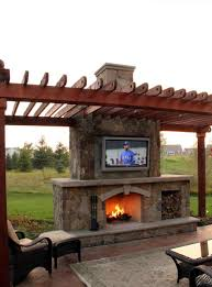 outdoor backyard fireplace with tv fireplace living kitchen