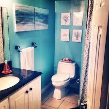 mosaic tile bathroom with sea picture beach bathroom ideas for