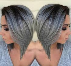 umbra hair beautiful silver ombre hairstyles for short hair