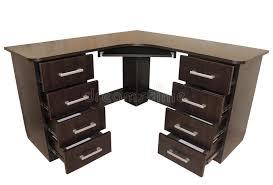 dark brown computer desk dark brown computer desk isolated on white stock photo image of