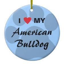 american bulldog ornaments