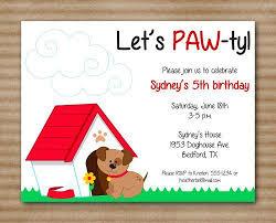 dog birthday invitations badbrya com