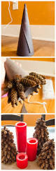 diy pinecone christmas trees so easy to do and costs next to