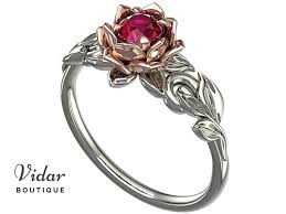 lotus engagement ring unique lotus flower ruby engagement ring vidar boutique vidar