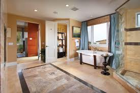 bathroom recomended master decorating ideas design bathroom simple master design cream painted walls blue curtains large glass window white