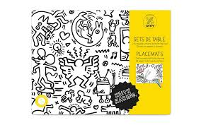coloring placemats end of line omy colouring placemats keith haring scp