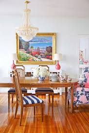 Eclectic Dining Room Chairs Eclectic Dining Room With Interior Wallpaper Hardwood Floors In