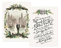 wedding invitations nyc new york london illustrated wedding suite invitation crush