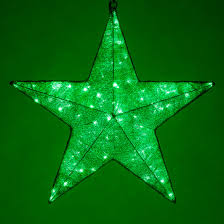 snowflakes 20 green metallic mesh light green led