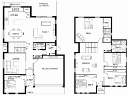 double storey floor plans double story house plans cairns inspirational 2 storey house floor