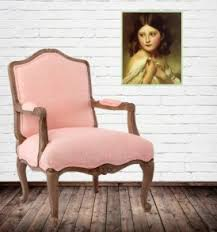 Pale Pink Armchair Chair Stool Sofa Luxury Handcrafted Furniture Wishmecraft