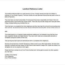 proper sample landlord reference letter u2013 letter format writing