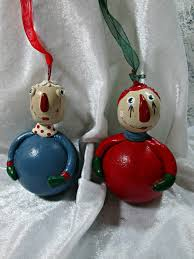 ornament set raggedy and andy by treasuresnwhimsystudio on