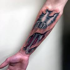 photo collection realistic tattoo of torn
