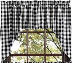 Black Check Curtains Buffalo Black Check Lined Swag Curtains Primitive Quilt Shop