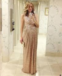 a line long rose gold sequins bridesmaid dress maternity evening dre
