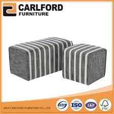 striped fabric ottoman storage stool cool seat box with storage