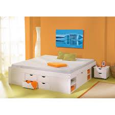 chambre en pin massif pas cher générique lit till multi rangements blanc 140 x 190 cm 2 chevets