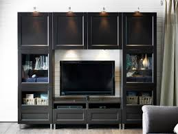 Design For Oak Tv Console Ideas Oak Tv Stands And Modern Black Painted Wooden Media Cabinet With
