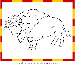 coloring pages printable for kids bison coloring pages for kids