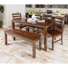 walker edison furniture company homestead 6 piece walnut wood