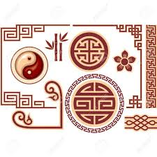 chinese design vector set of oriental chinese design elements royalty free
