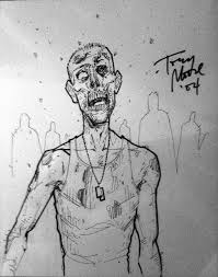 tony moore zombie sketch 2004 3 in jake u u0027s original sketches