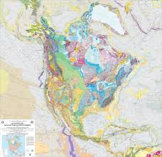 Map Of Nirth America geologic map of north america