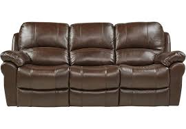 Reclining Sofas Leather Vercelli Brown Leather Power Reclining Sofa Reclining Sofas Brown