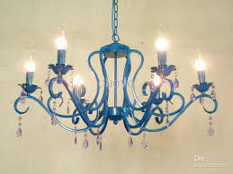 Painted Chandelier Luxury 31 Chandeliers Painted Blue Iron 6 Lights Modern