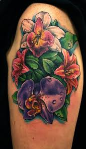 large flower tattoo designs best 25 orchid flower tattoos ideas only on pinterest orchid