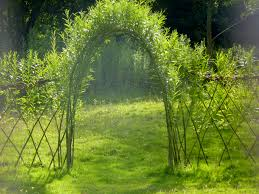 these willow gazebos give new meaning to