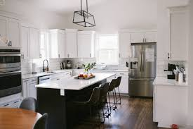 black island and white cabinets kitchen modern white kitchen ideas and styling conley adventures