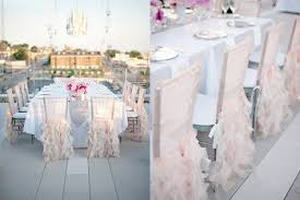 Pink Chair Covers Wedding Inspiration Ruffles