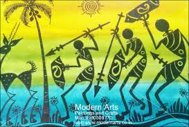 Warli Art Simple Designs Modern Arts Paintings U0026 Crafts Does Warli Paintings In Pune U0026 Mumbai