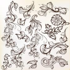 floral swirl ornament design vector 01 free millions