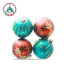 and white ornaments and green ornaments isolated on a white