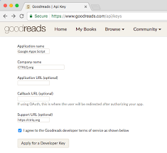 search books with goodreads api and apps script