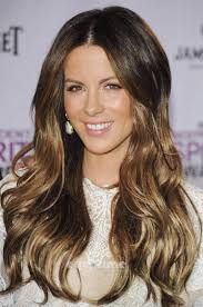 hair color dark on top light on bottom kate beckinsale love the ombre hair color alissa woolf dark top