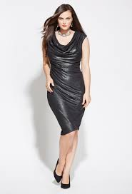 the perfect christmas party dress plus size shimmery drape neck