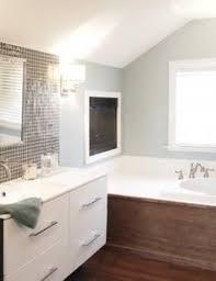 great bathroom combo wall color sherwin williams rain 6219