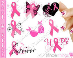 nail art decals stickers relay for life purple ribbon cancer