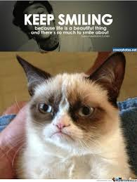 Smiling Cat Meme - grumpy cat disagrees smiling is for weak by williams meme center
