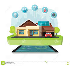 smart home systems smart home modern future house vector illustration solar energy