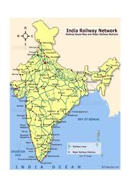 Map Of India States by Indian Railways Overview