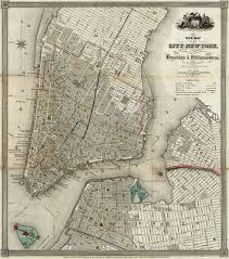 Brooklyn New York Map by Map Of Manhattan And Parts Of Brooklyn 1840