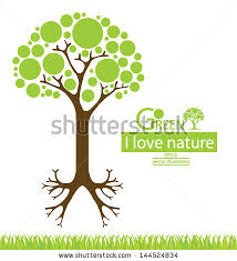 tree design go green save world stock vector 144524834