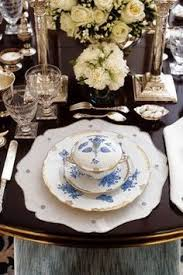 Setting Table Beautiful Antique China With Tiffany Audubon Silver Ann Getty