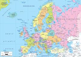 Europe Map Labeled Download Map Of All European Countries Major Tourist Attractions