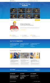 blue collar handyman html template by lsvrthemes themeforest